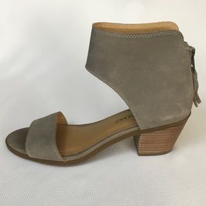 Lucky Brand grey leather sandals NWOB